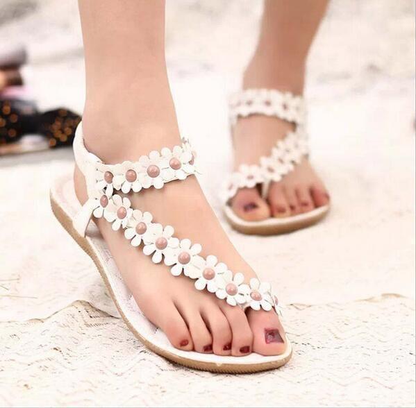 Hot Summer Women Sandals 2016 Fashion Bohemia Womens Shoes Beaded ...
