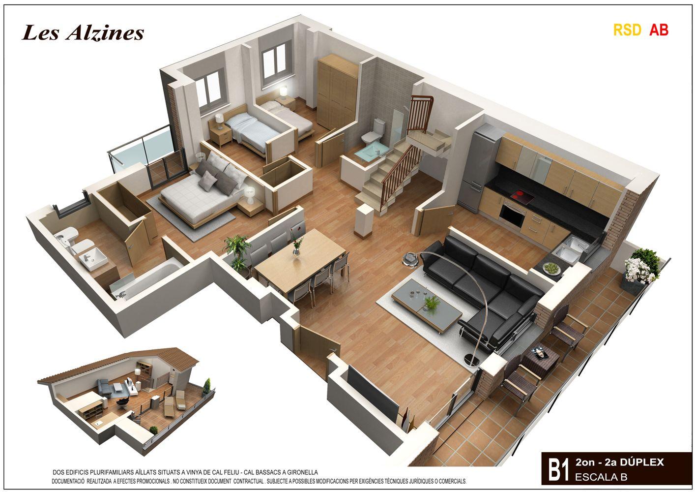 Apartamentos duplex buscar con google planos - Escaleras de duplex ...
