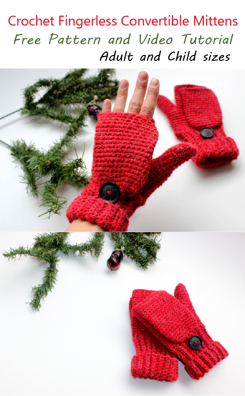 Crochet fingerless mittens adult size turtle whicky crochet home after long time i finally made pattern of fingerless convertible mittens for adults this will fit medium size hand you can use 5 mm crochet hook to make dt1010fo