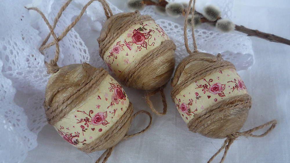Vajíčka natur - romantika by cherryjanka - SAShE.sk - Handmade Veľká Noc
