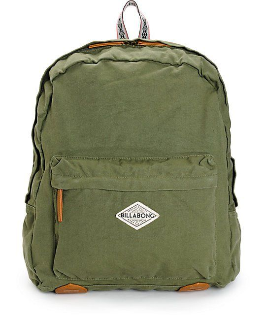 The roomy storage compartment paired with the padded laptop sleeve makes  this green seagrass colored cotton canvas backpack perfect for storing your  gear ... 4f8713f8504d6