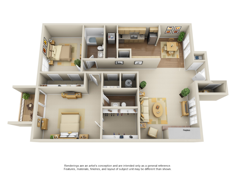 One Two Bedroom Apartments In Edmond Ok With Images House Plans Bedroom House Plans