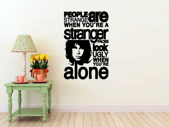 Jim morrison vinyl wall decal the doors band interior design sticker art room home and business decor