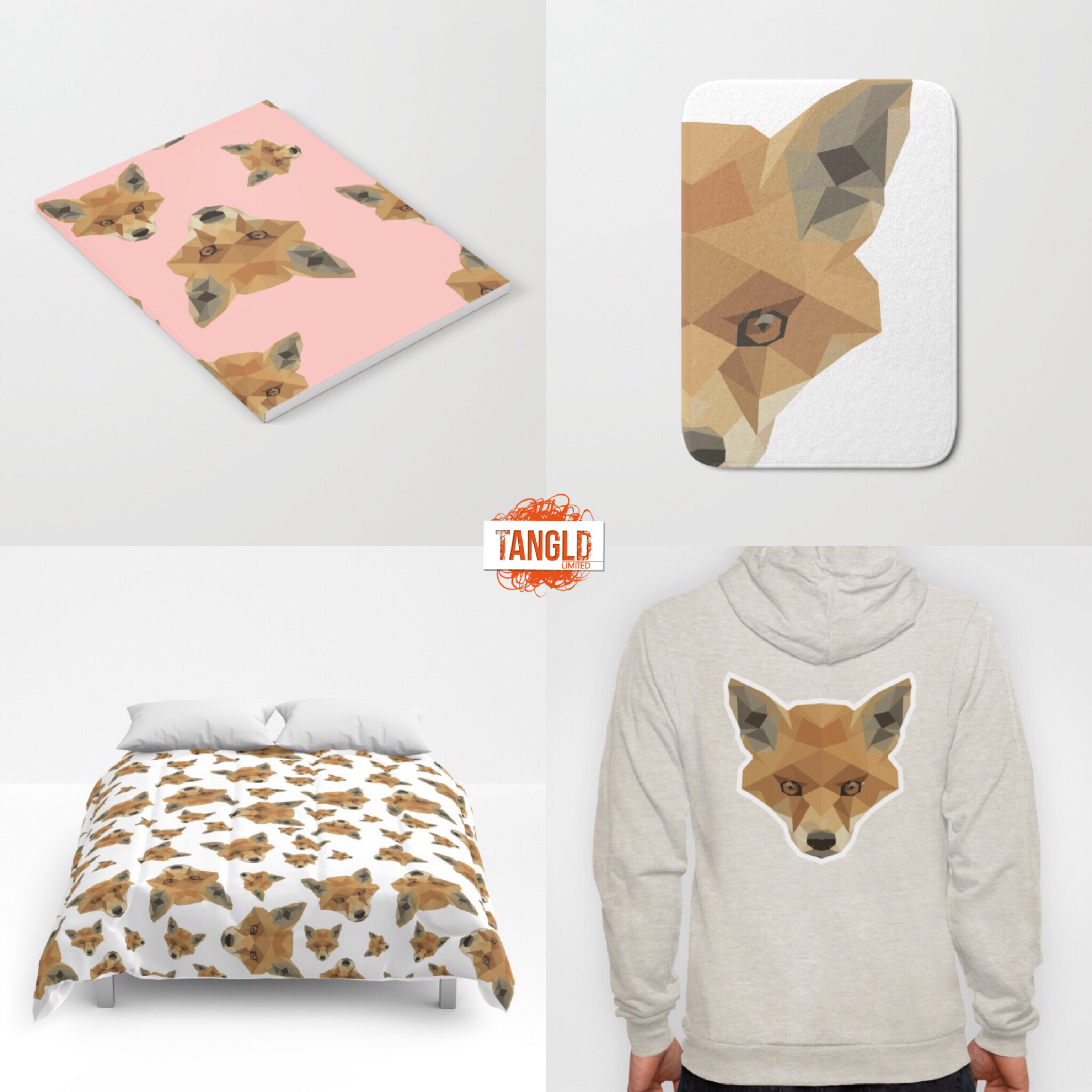 Our fox pattern and motif looks great on products.