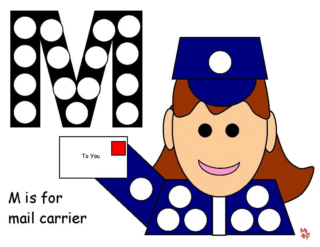 mail carrier activities for preschool mail carrier dot activity prek post office community 33061