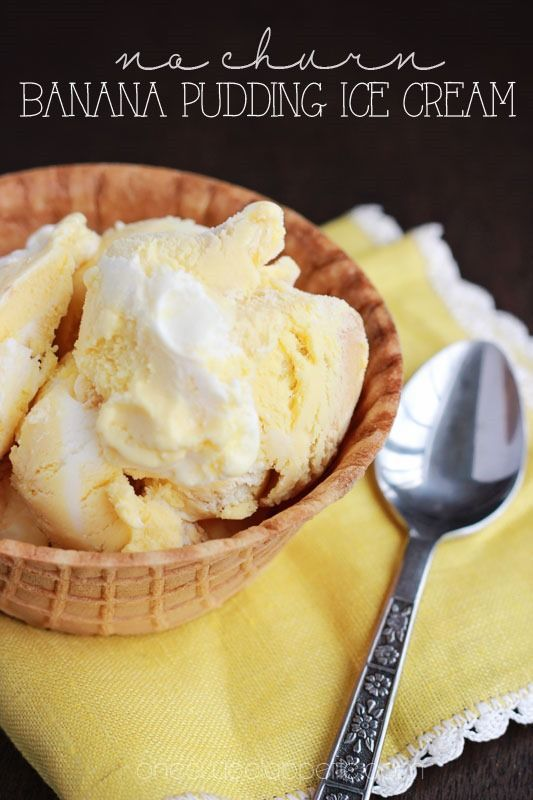 No churn banana pudding ice cream Inspired by the blue bell