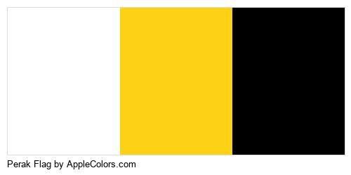 Flag Perak Symbol Malaysia State Flags #ffffff #fcd116 #000000