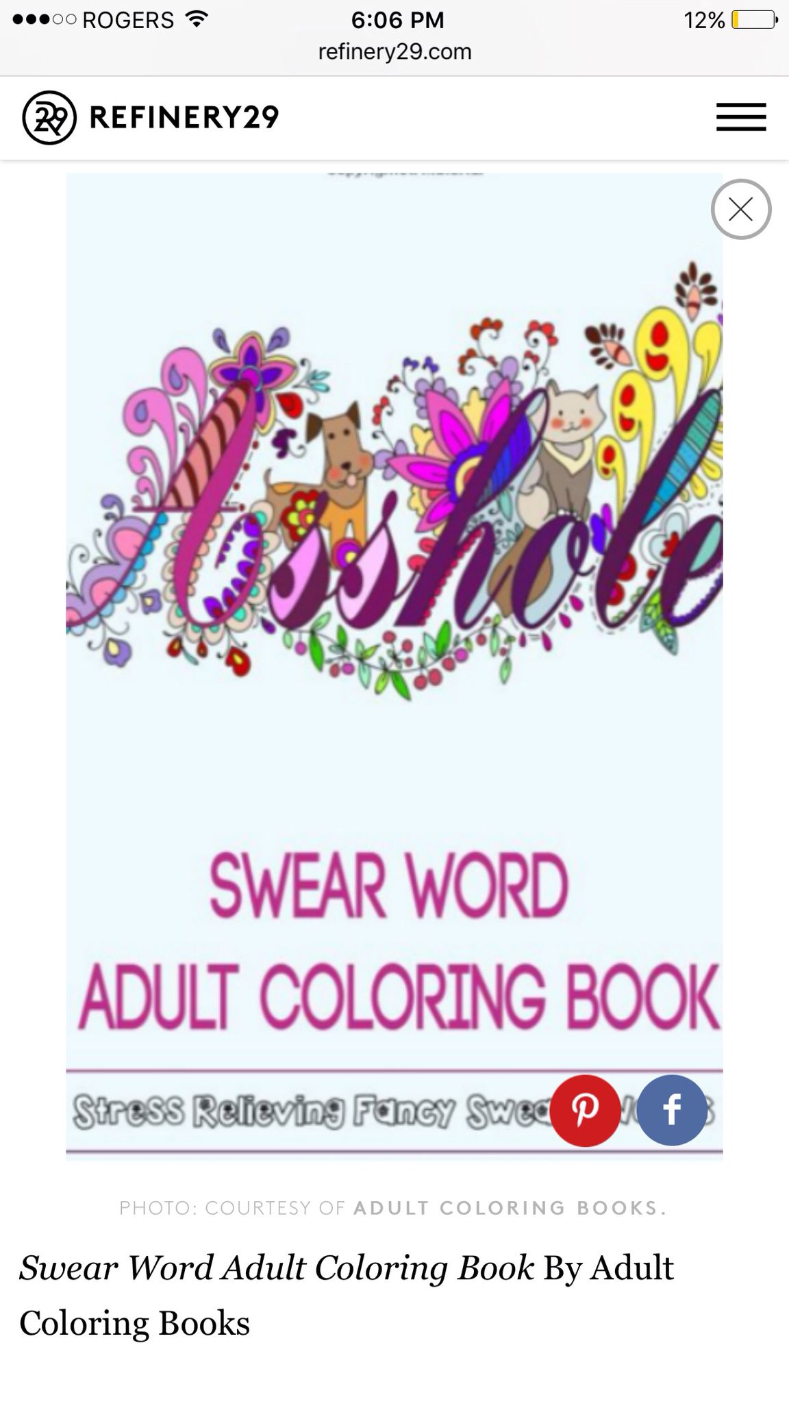 Fancy swear words coloring book - Adult Colouring Book