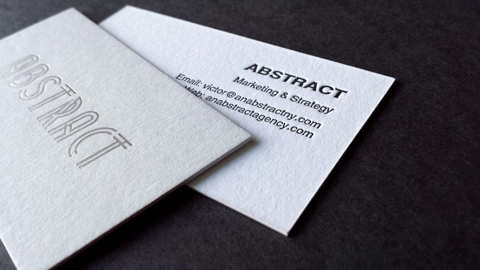 Abstract 3 Silk Business Cards Letterpress Business Cards Foil Letterpress