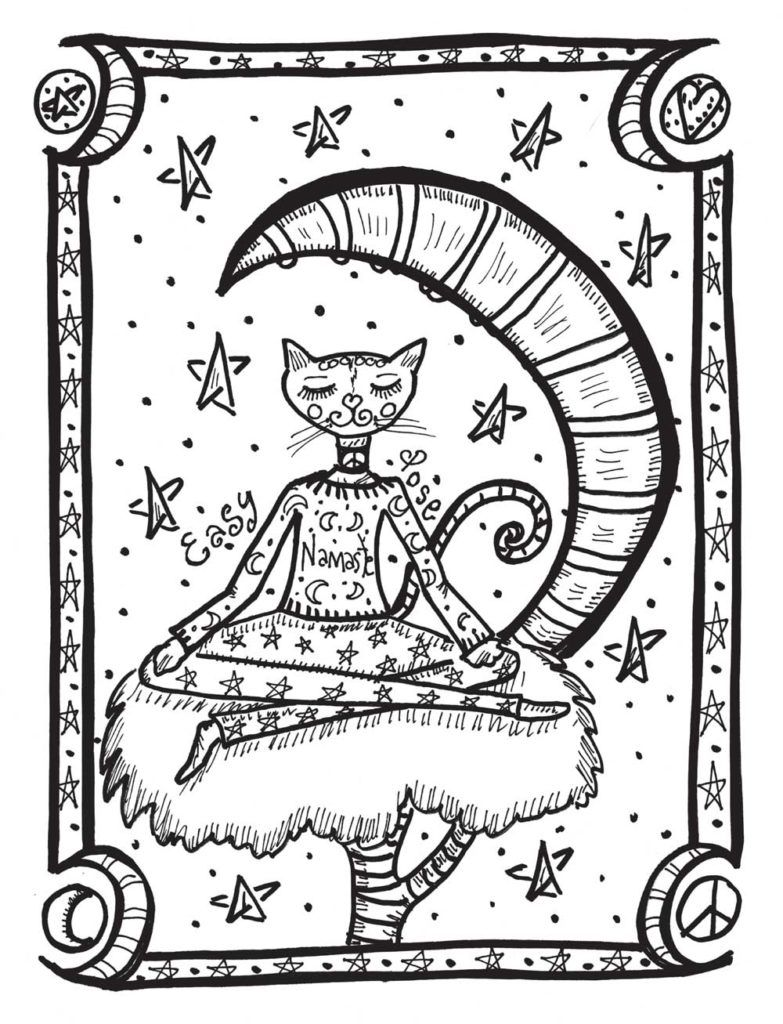 Coloring Rocks Cat Coloring Page Cool Coloring Pages Cartoon Coloring Pages [ 1024 x 783 Pixel ]