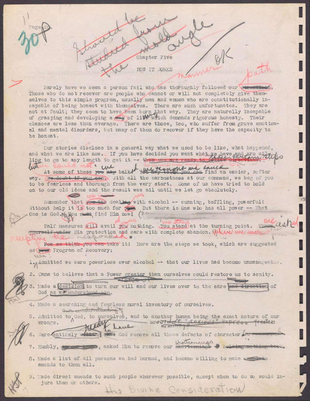 Original aa big book manuscript with edit notes cool addiction original aa big book manuscript with edit notes cool robcynllc Choice Image