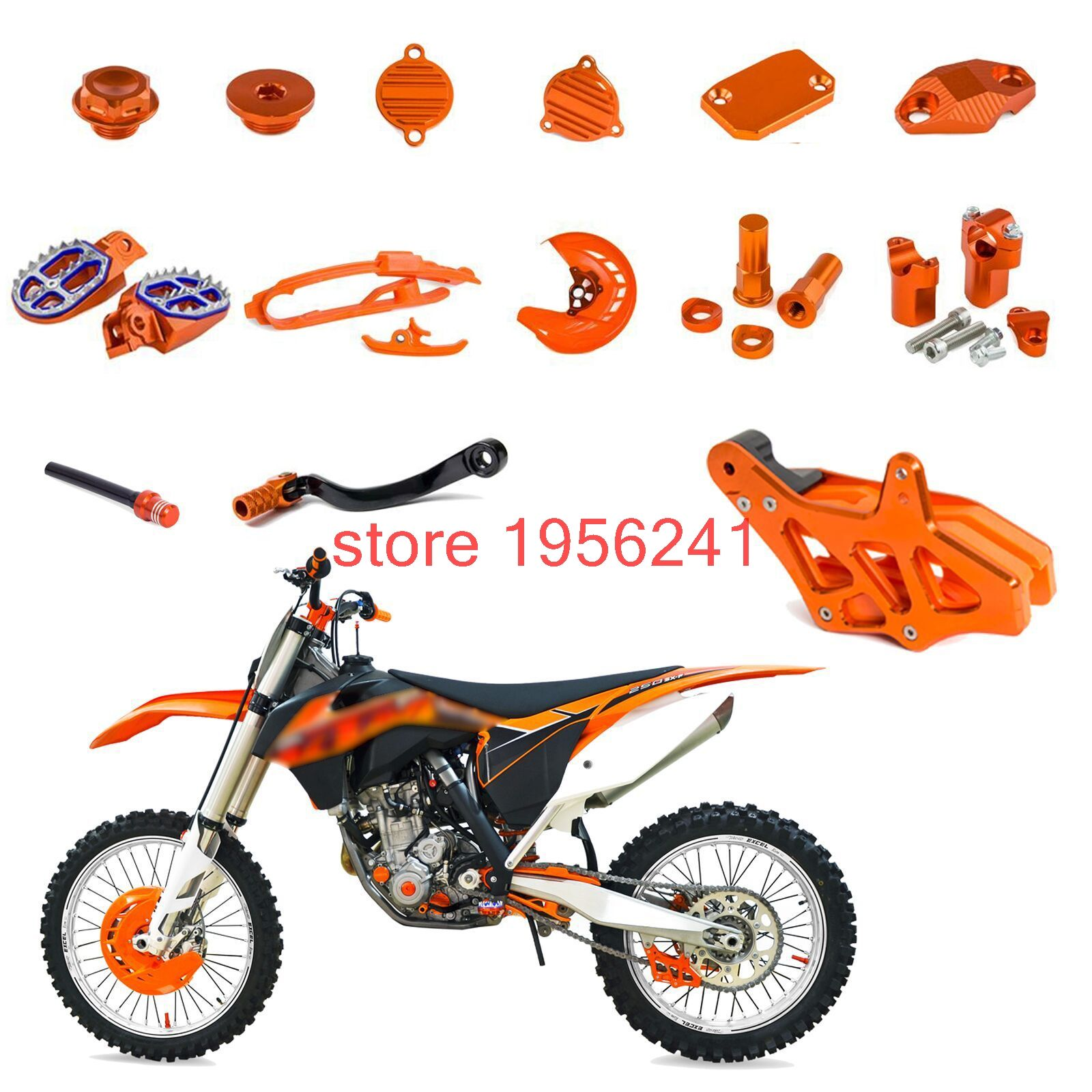 Gear Shifter Brake Hose Clamp Reservoir Cover Chain Guide Foot Pegs Other For Ktm 250 Sxf Sx F Exc F Xcf Xc F Xcf W Ktm Ktm 250 Ktm 250