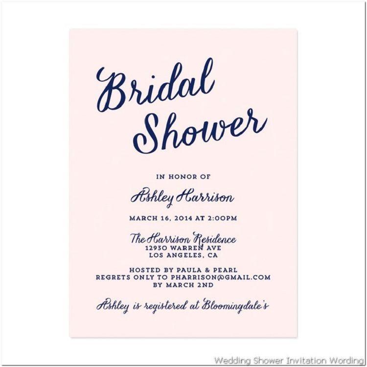 Bridal Shower Invitation Gift Etiquette