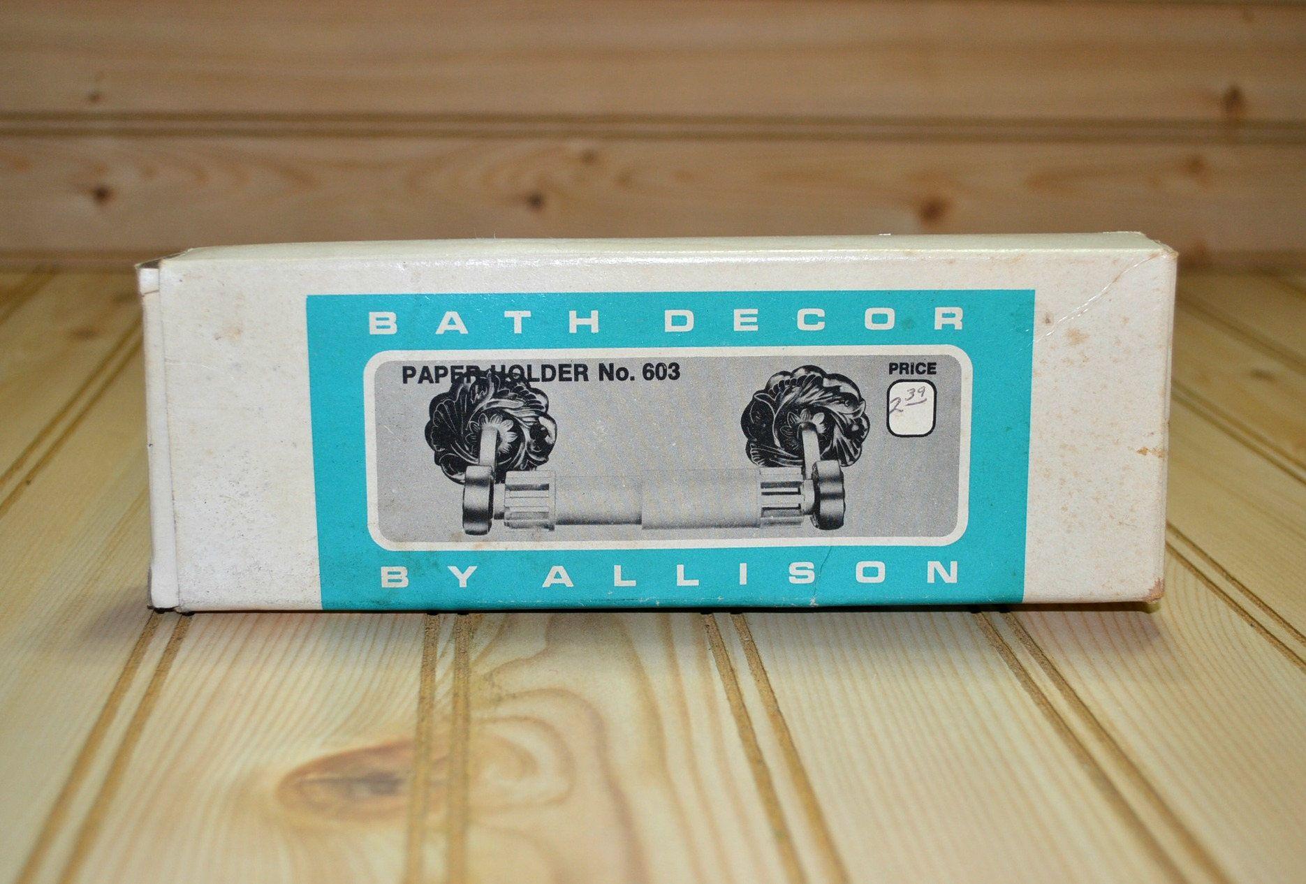 japanese toilet paper holder. Vintage Allison Japan Toilet Paper Holder No  603 Bath Decor Hardware Chrome Finish Never Used