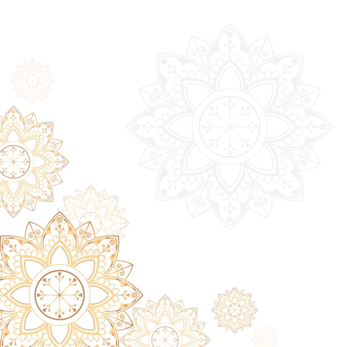 Download Premium Illustration Of Golden Mandala On White