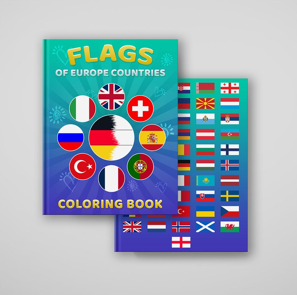 Flags Of Europe Countries Coloring Book Coloring Books Flag Of Europe How To Memorize Things