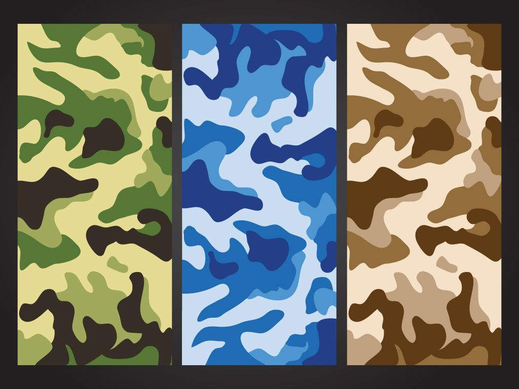 Camouflage Pattern Pack Free Vector Art Graphic Design Art