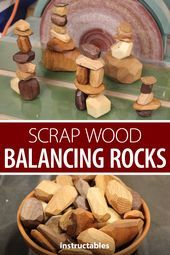 Make scrap wood balancing rocks for Tumi ishi, a Japanese game of stacking wooden rocks.  #Instructables #workshop #woodworking #toy #Balancing #Rocks #Scrap #Wood #wood art diy #wood art easy #wood art ideas #wood art painted #wood art projects