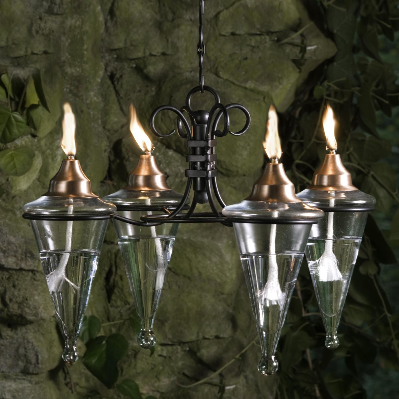 Have to have it Hanging Torch Chandelier Backyard
