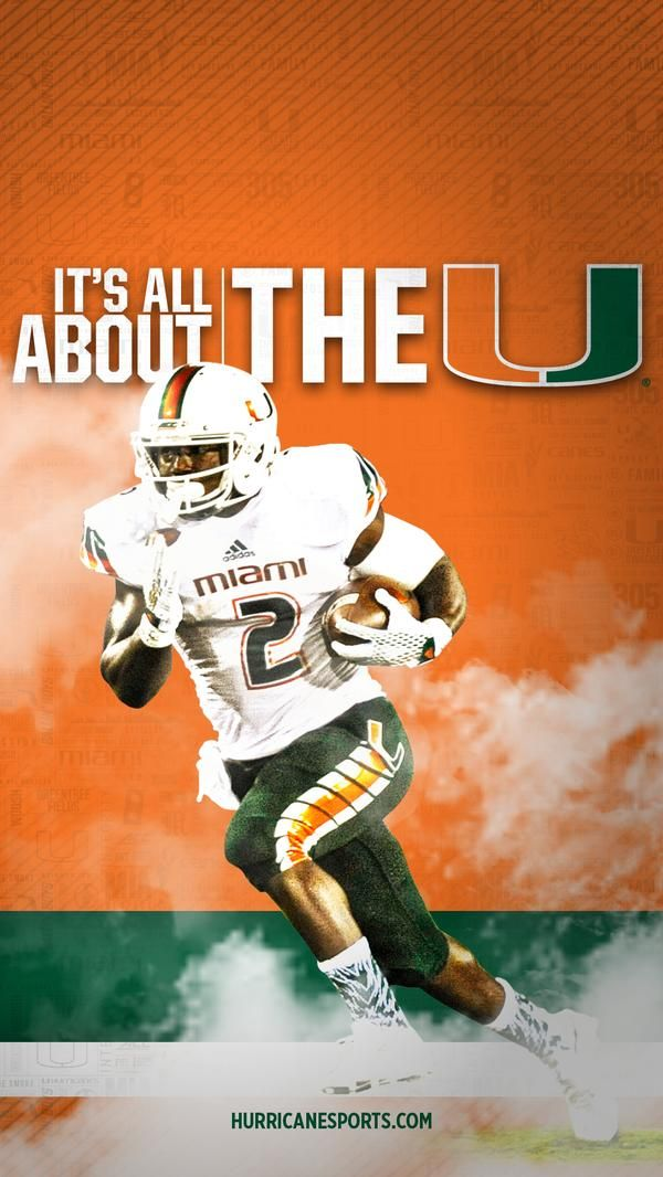 Get A Set Of 12 Officially Ncaa Licensed Miami Hurricanes Iphone Wallpapers Sized Precisely For An Hurricane Logo Hurricanes Football Miami Hurricanes Football