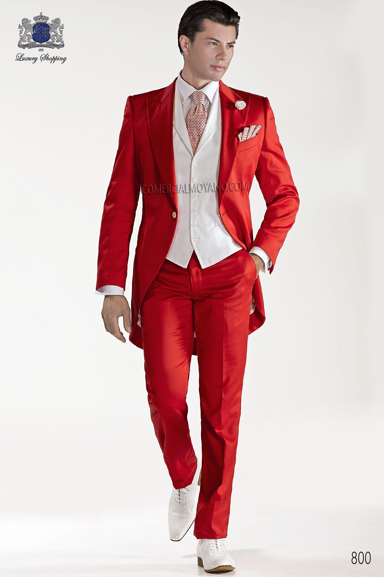 Red satin cotton fashion men frock coat red shorts men wedding