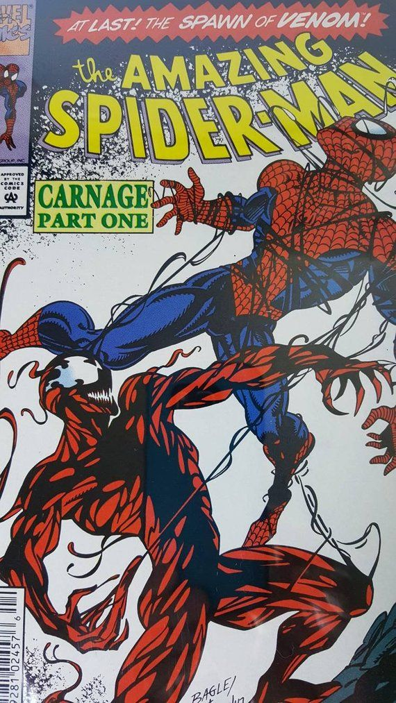 1st Carnage, Amazing SpiderMan 361 cgc graded 9.6, first