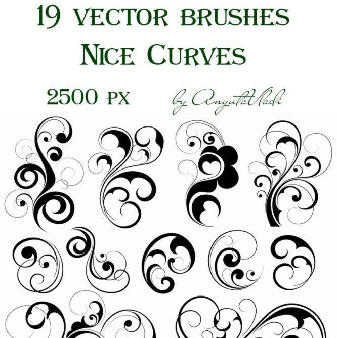 swirl brushes graphic design pinterest vector brush photoshop