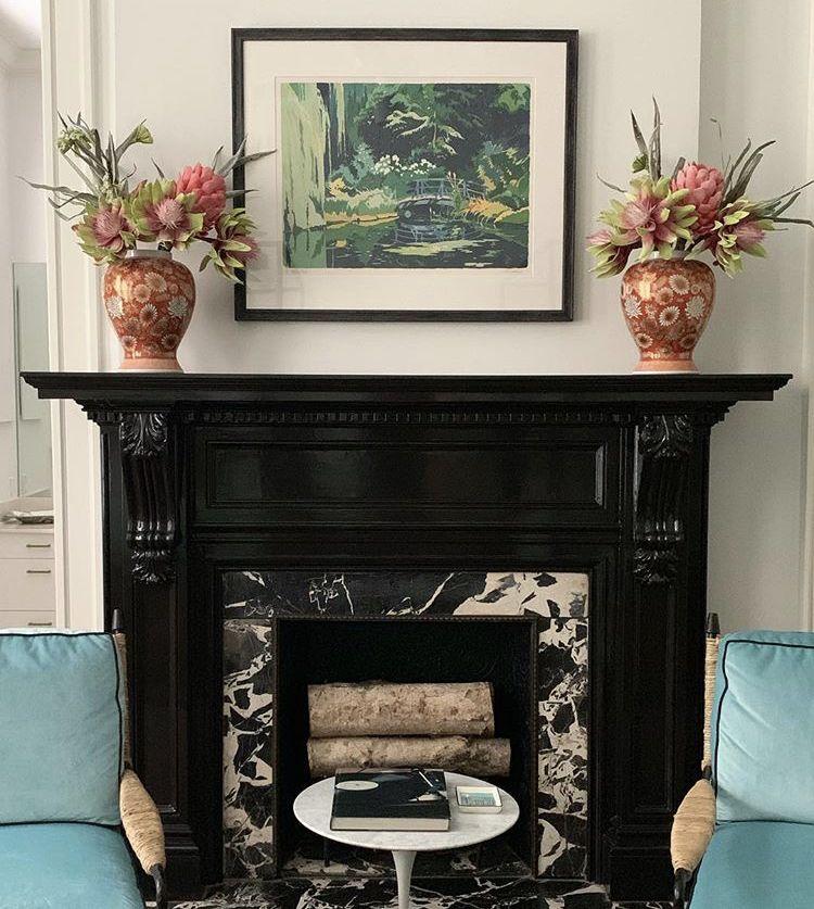 Black High Gloss Black Fireplace Fine Paints Of Europe Paint Fireplace