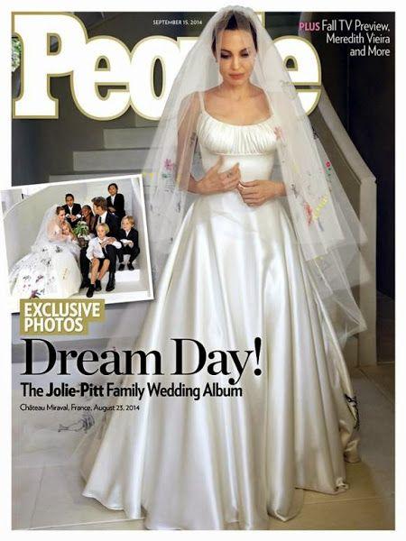 El vestido de boda de Angelina Jolie