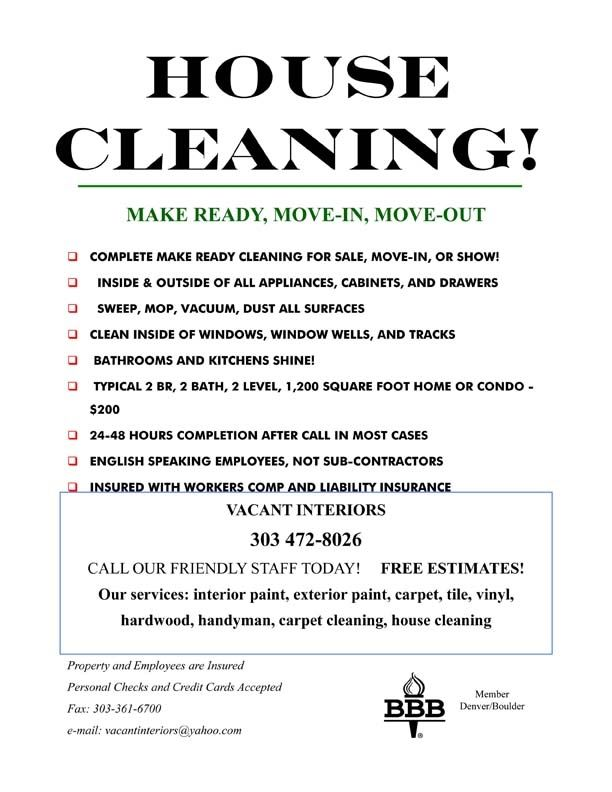 Free Home Cleaning Flyer Templates In 2020 Cleaning Flyers