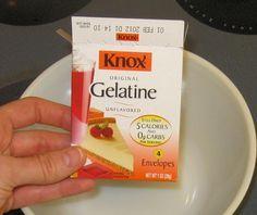 Non-Branded Gelatin Dessert  1 envelope plain Knox gelatin 1 cup boiling water 1-2 cups fruit or vegetable juice 1-2 Tbs honey, if desi...