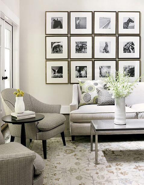 Gallery wall, uniform framing | Gallery Wall | Pinterest | Gallery ...