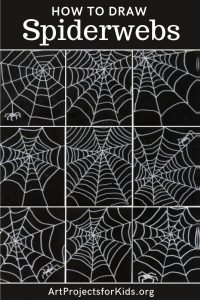 How to Draw Spiderwebs