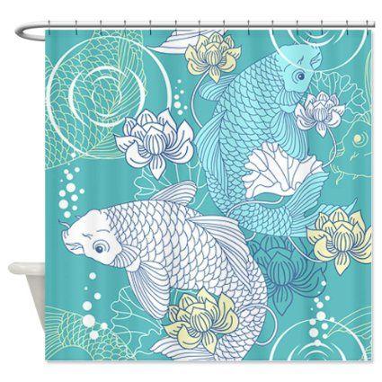 CafePress Koi Fish Shower Curtain