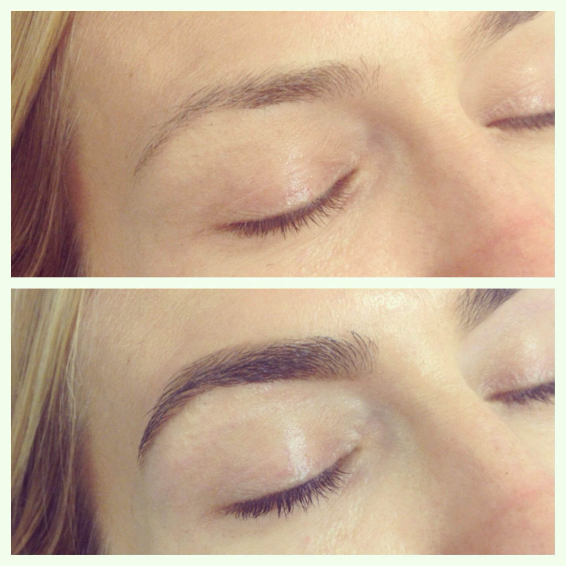 Before And After Brow Shaping And Tint By Brows By Shaila Brows By
