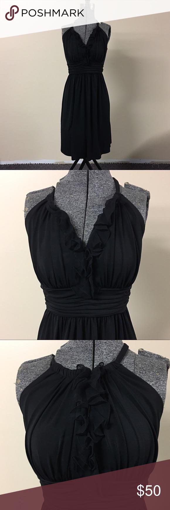 Black ruffle dress suzi chin maggie boutique nwot black ruffle