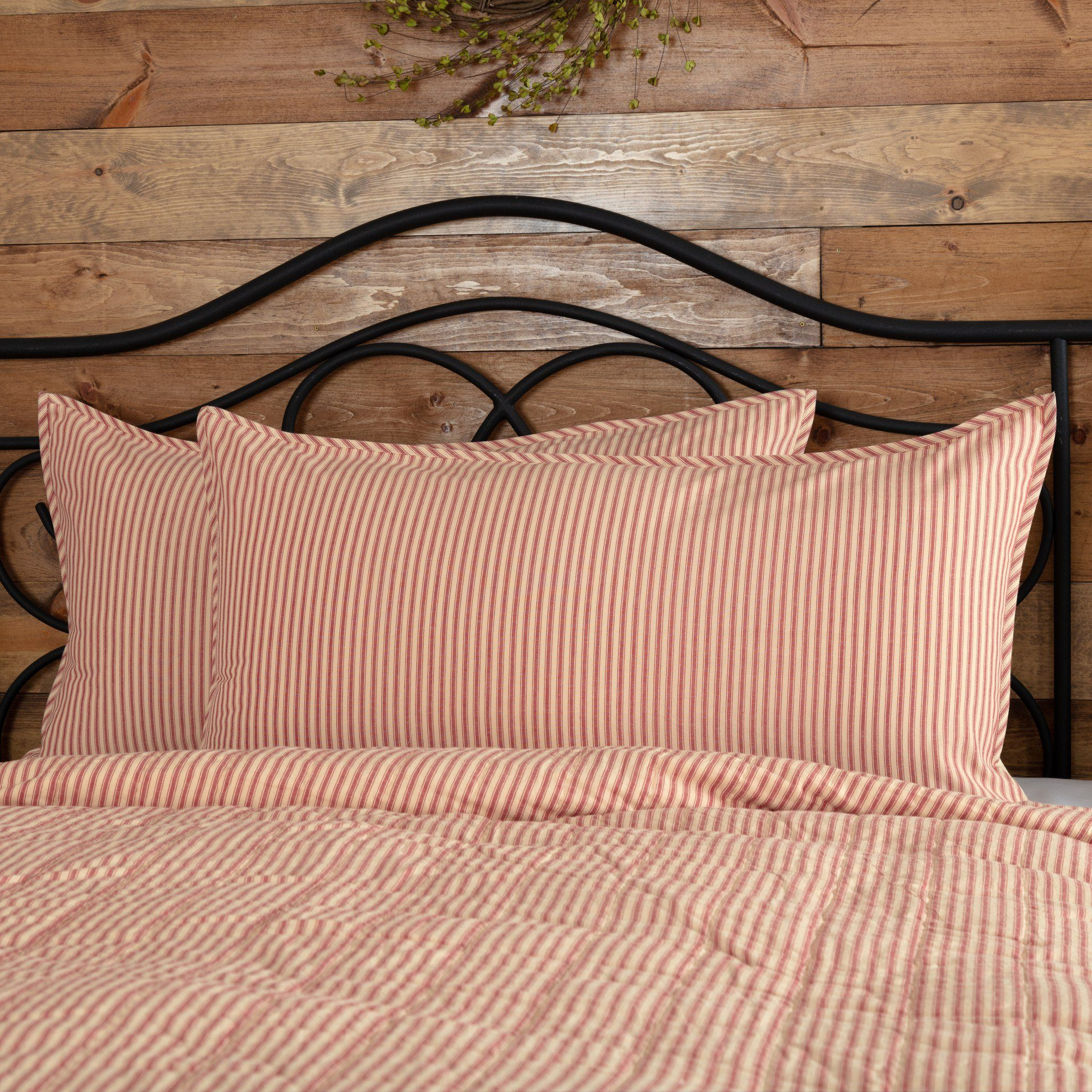 SAWYER MILL CHARCOAL TICKING STRIPE QUILT SET-choose size /& accessories-Bedding