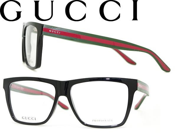 Glasses frames Gucci black greenxred Wellington-GUCCI ...