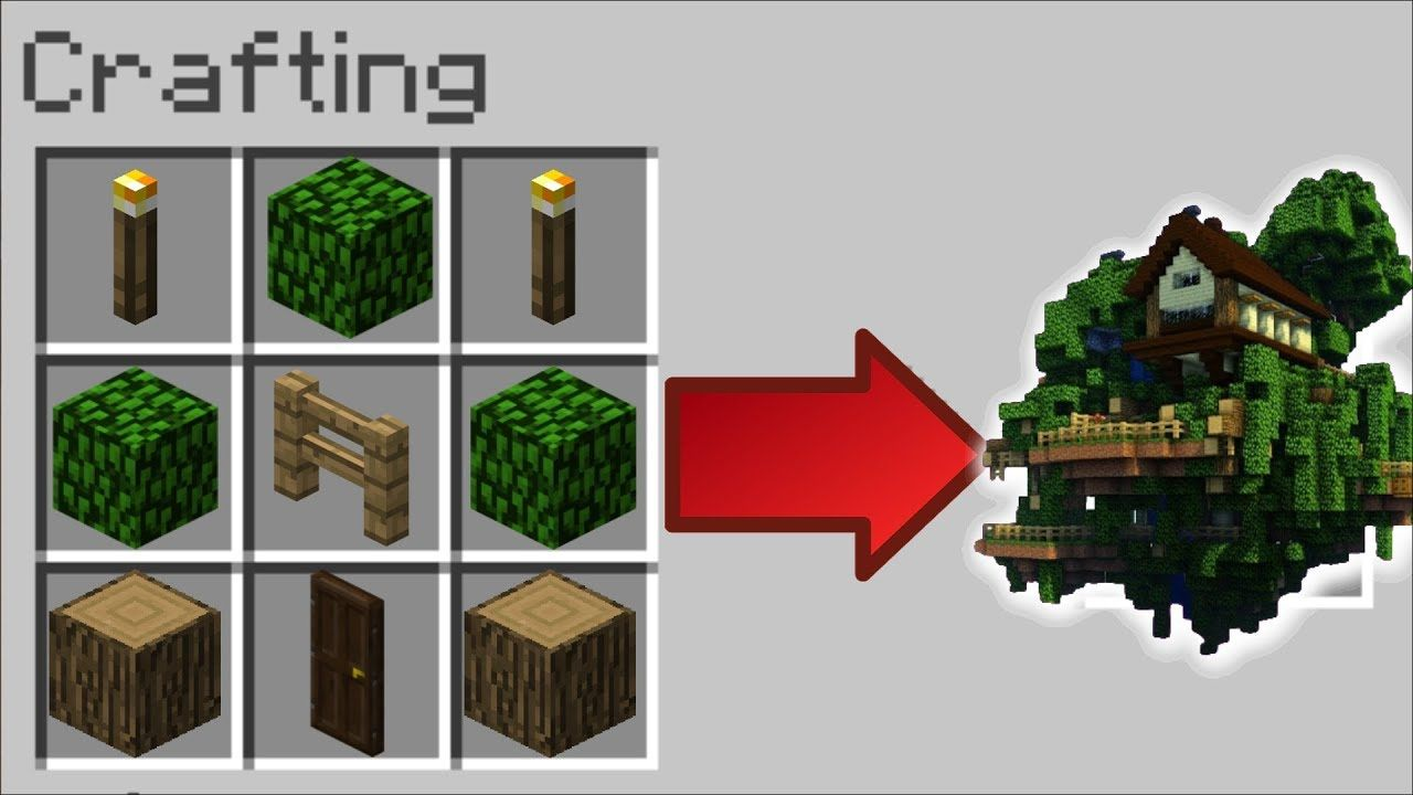 How To Instantly Make A Tree House In Minecraft Minecraft Mods Minecraft Crafts Minecraft Easy Minecraft Houses