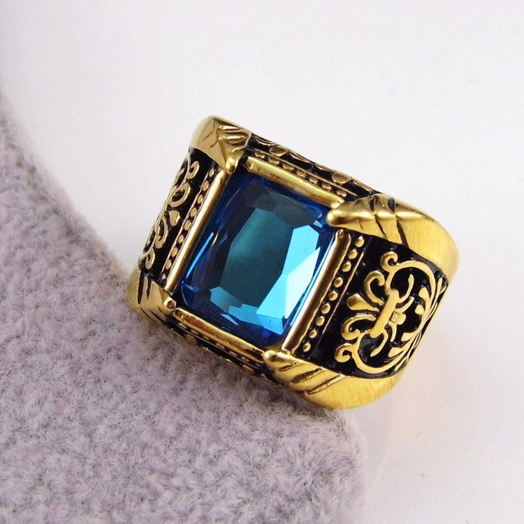 Vintage Solid Silver Plated Handmade Natural Stone Mosaic Rings Jewelry Gifts