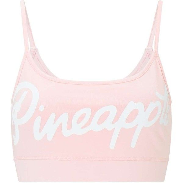 bc08eeb6214a62 Miss Selfridge PINEAPPLE Logo Pink Bralet ( 16) ❤ liked on Polyvore  featuring intimates
