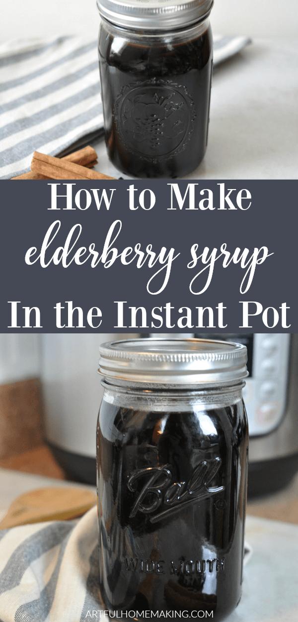 Instant Pot Elderberry Syrup #elderberryrecipes