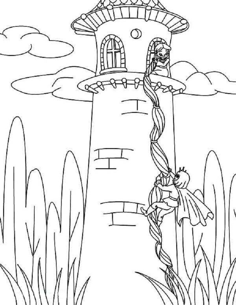 Rapunzel Castle Coloring Pages Coloring Pages Ideas In 2019