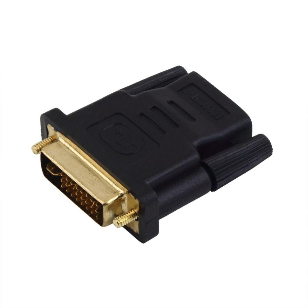 1 stück adapter vergoldet dvi stecker auf hdmi buchse adapter ...