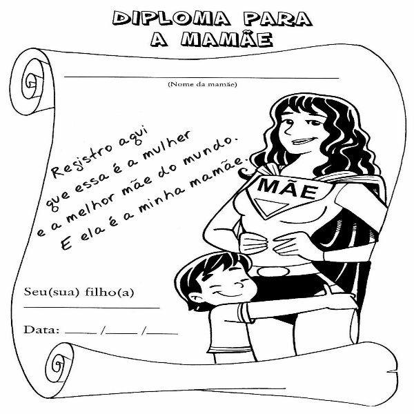 Cartao Para O Dia Das Maes Educacao Infantil Para Imprimir Com