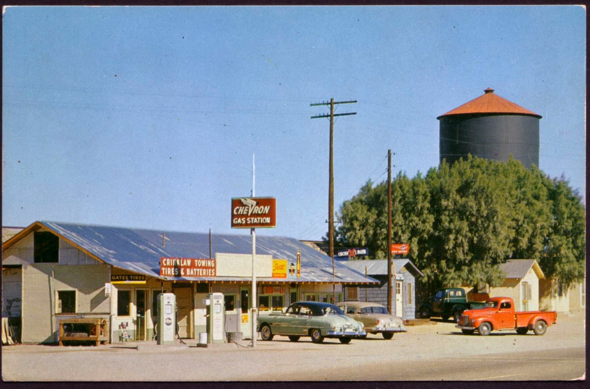 chevron gas station in the 1950 s