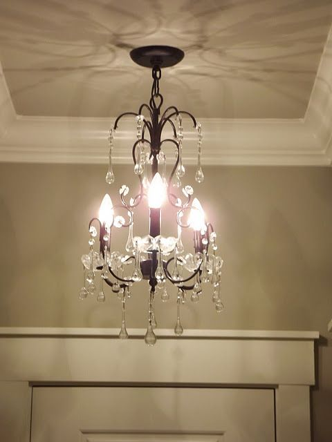 would love a small chandeliernot sure where to put it