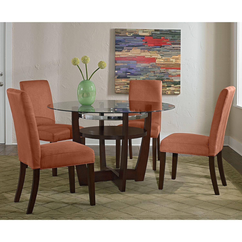 Alcove Orange 5 Pcdinette  Value City Furniture  Home Decor Best Value City Dining Room Sets Decorating Inspiration