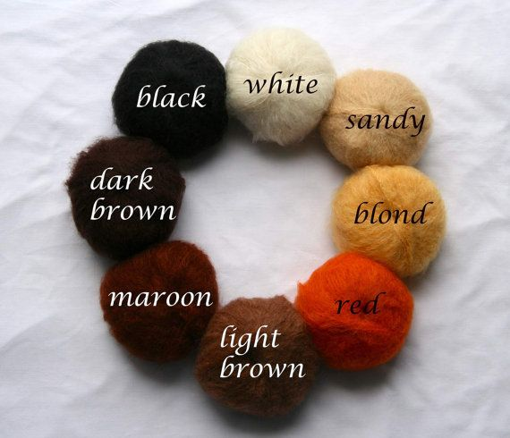 Doll mohair yarn for Waldorf Doll Hair /  doll wigs