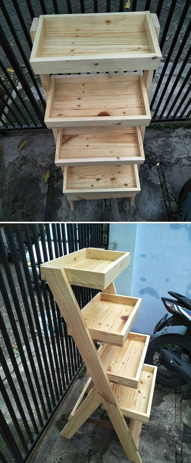 37+ Trendy Wood Pallet Racks & Other Projects (With images ...